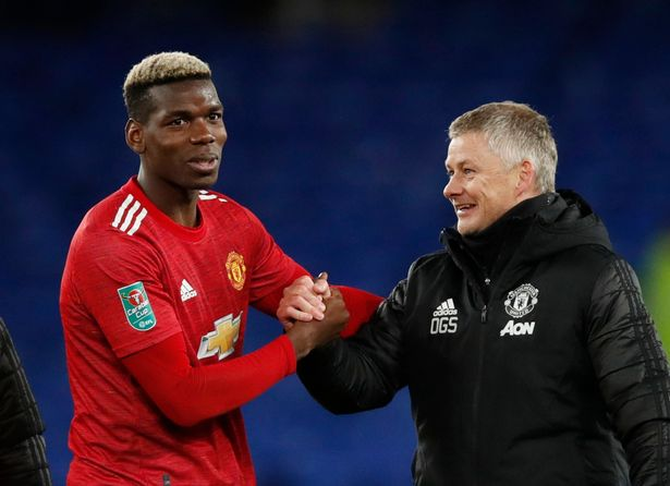 Solskjaer responds questions after being asked about Pogba's future