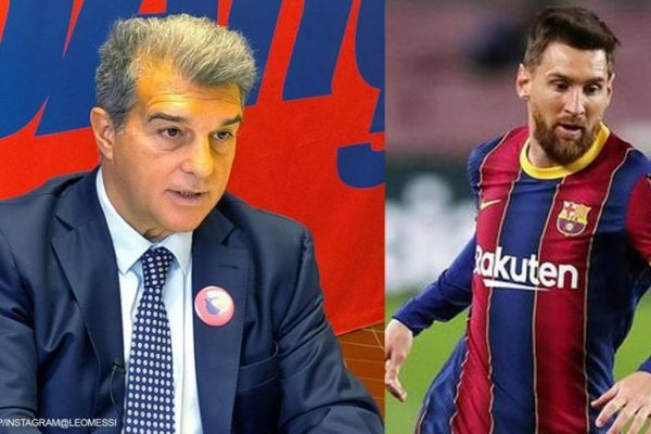 Laporta confirmed the failure to renew Messi's contract.